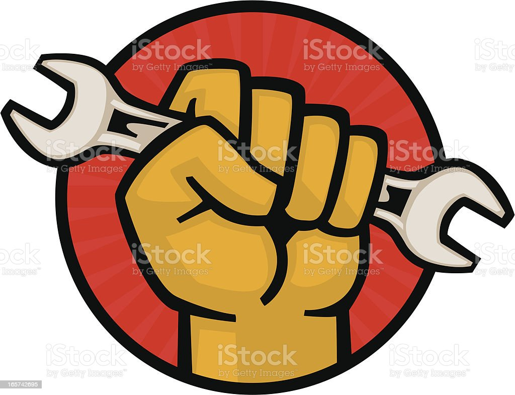 wrench fist royalty-free wrench fist stock vector art & more images of cartoon