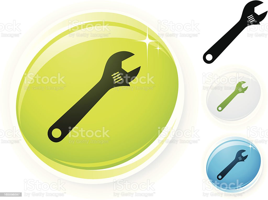 Wrench icon royalty-free wrench icon stock vector art & more images of adjustable wrench
