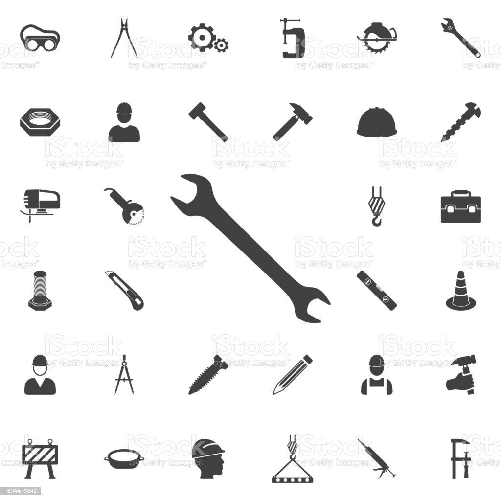 wrench icon vector art illustration