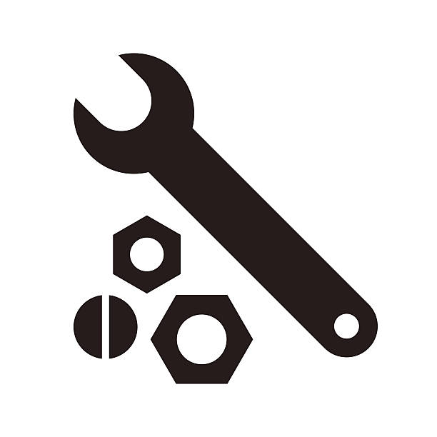 wrench, nuts and bolt icon - nuts 幅插畫檔、美工圖案、卡通及圖標