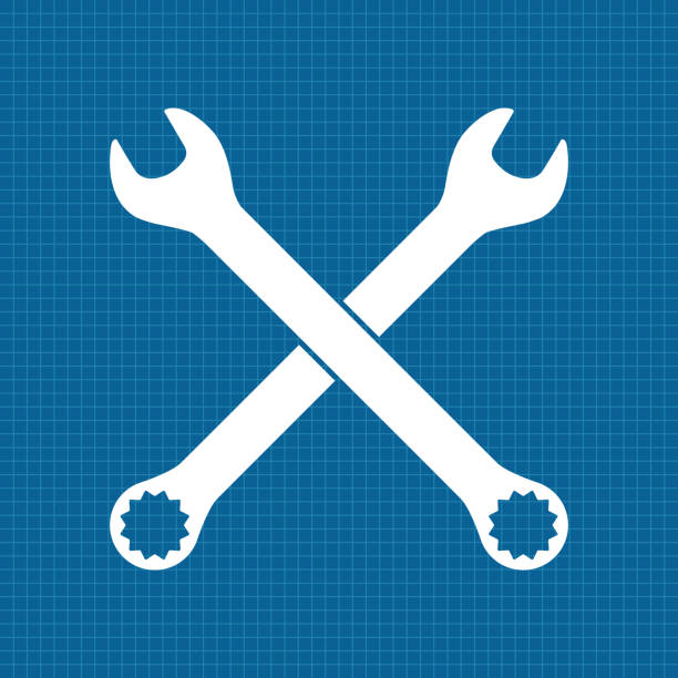 Royalty Free Crossed Wrench Spanners Clip Art, Vector ...