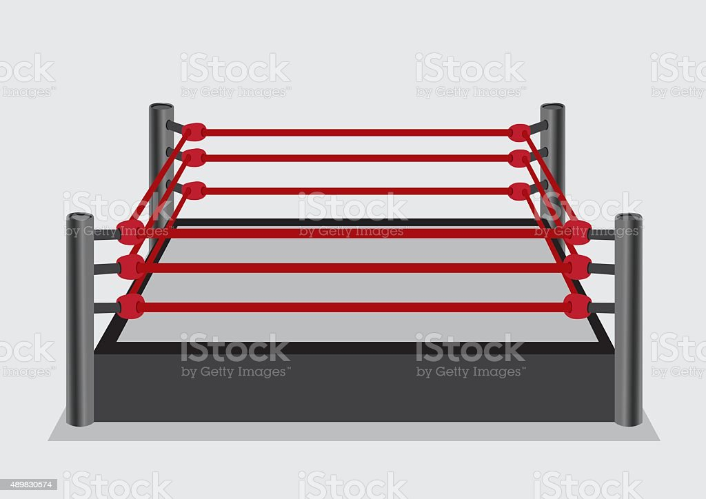 Wresting Ring Vector Illustration vector art illustration
