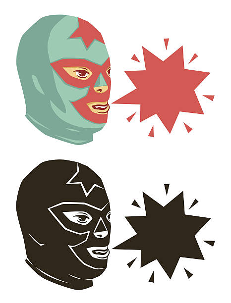 wrestler heads - wrestling stock illustrations, clip art, cartoons, & icons