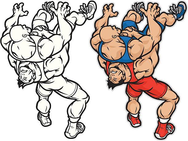 wrestler mayhem - wrestling stock illustrations, clip art, cartoons, & icons