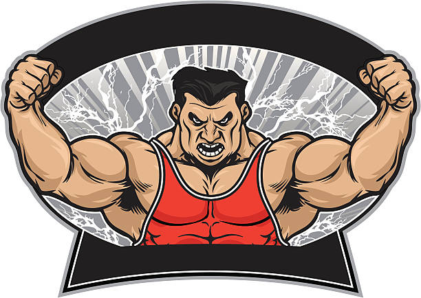 Power Wrestler – Vektorgrafik