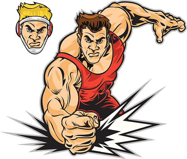 Luchador - ilustración de arte vectorial