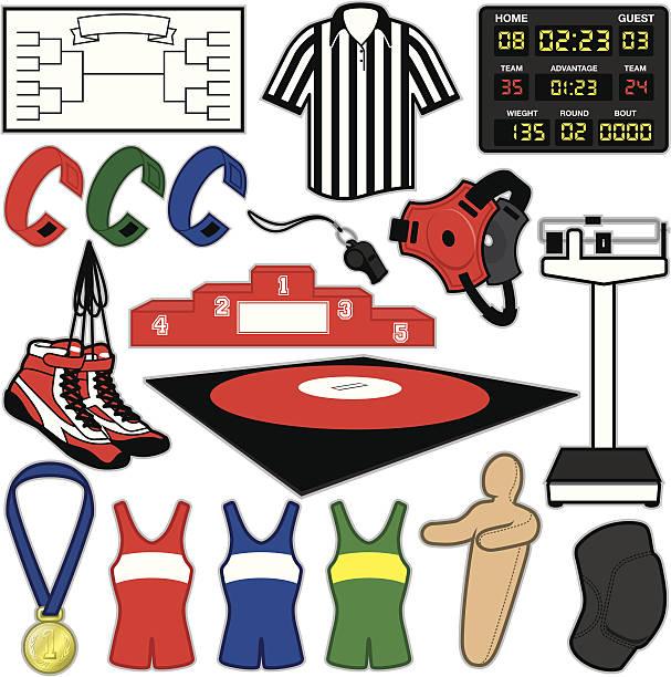 wrestling items - wrestling stock illustrations, clip art, cartoons, & icons