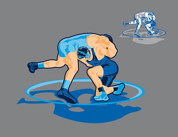 wrestling match - wrestling stock illustrations, clip art, cartoons, & icons