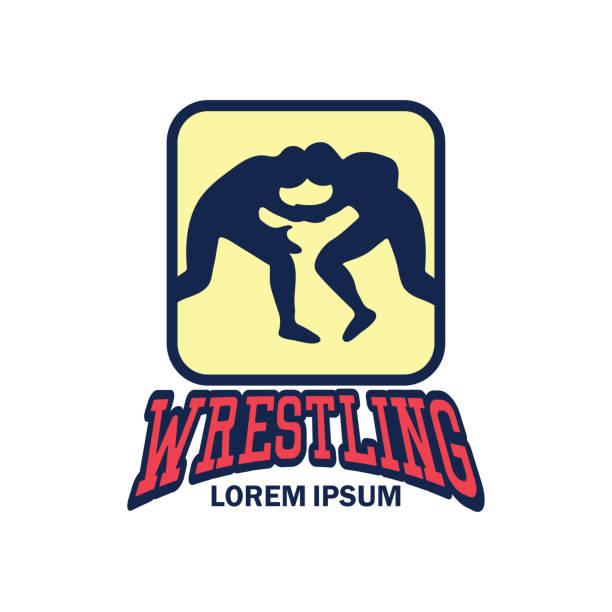 wrestling sport - wrestling stock illustrations, clip art, cartoons, & icons