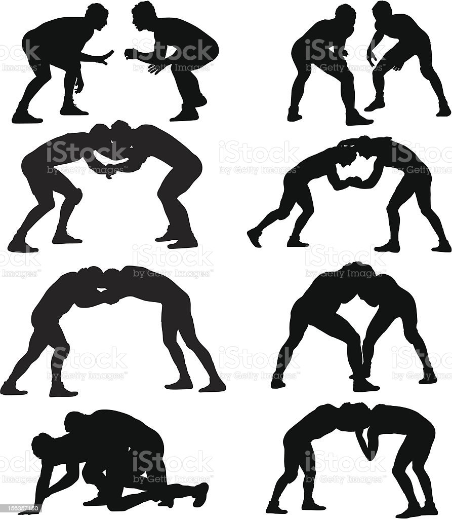 royalty free wrestling clip art vector images illustrations istock rh istockphoto com