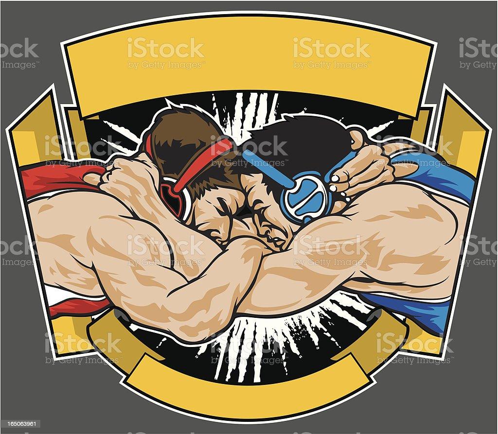Lucha libre - ilustración de arte vectorial