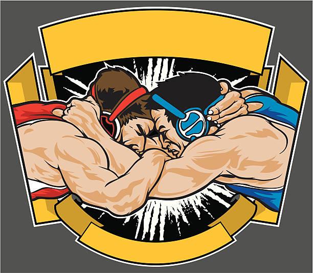 wrestling - wrestling stock illustrations, clip art, cartoons, & icons