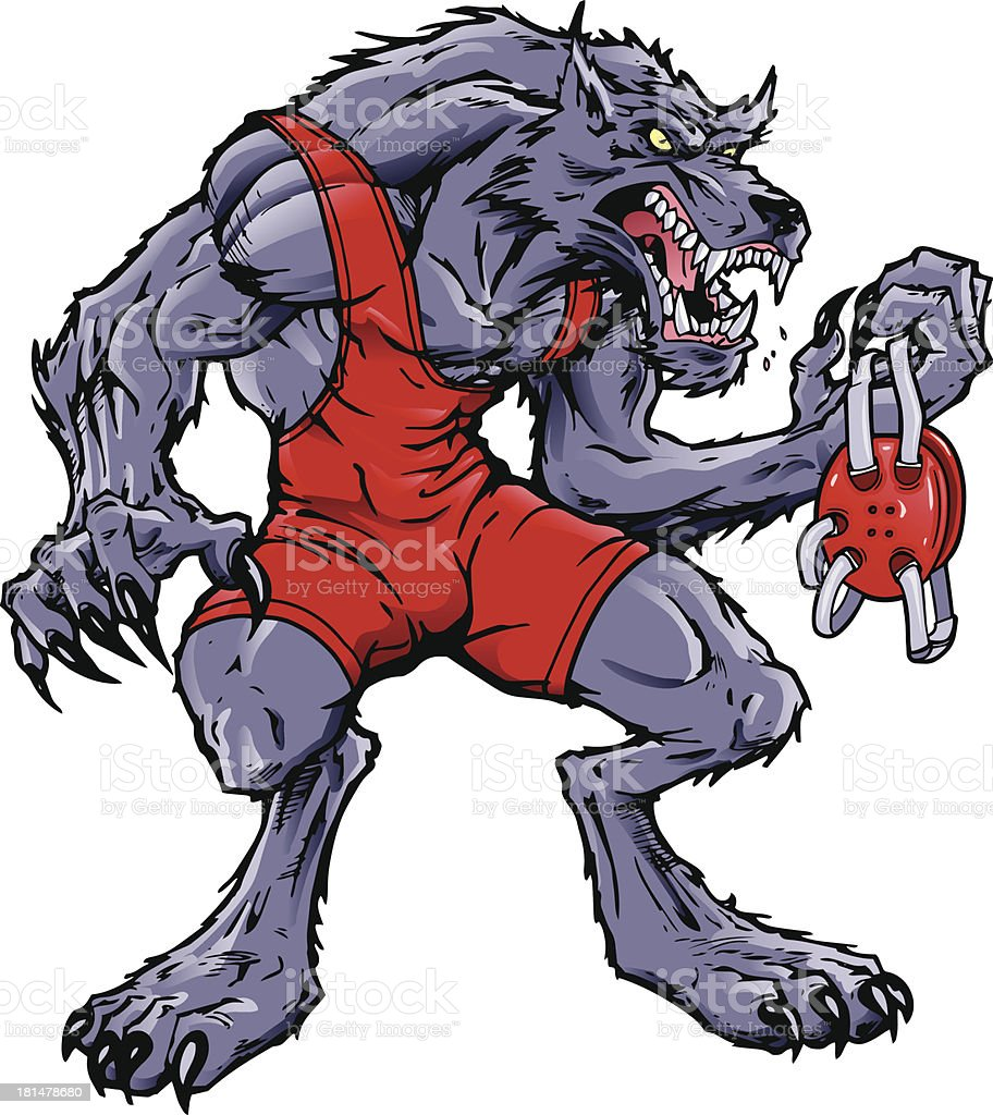 Wrestling Wolf royalty-free wrestling wolf stock vector art & more images of anger