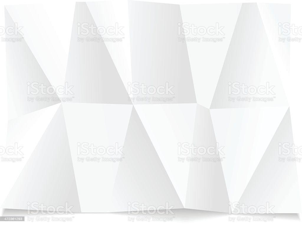 Wrinkled paper royalty-free stock vector art