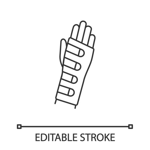 armband-symbol - manschetten stock-grafiken, -clipart, -cartoons und -symbole
