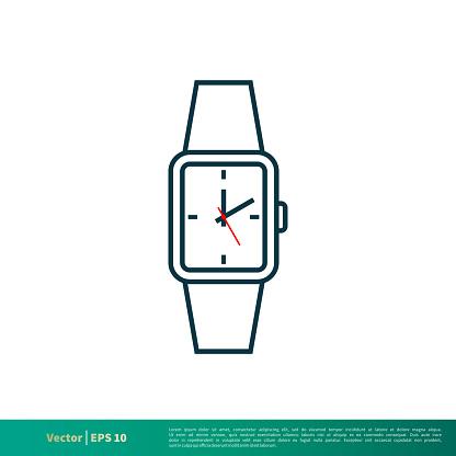 Wrist Watch Icon Vector Logo Template Illustration Design ...