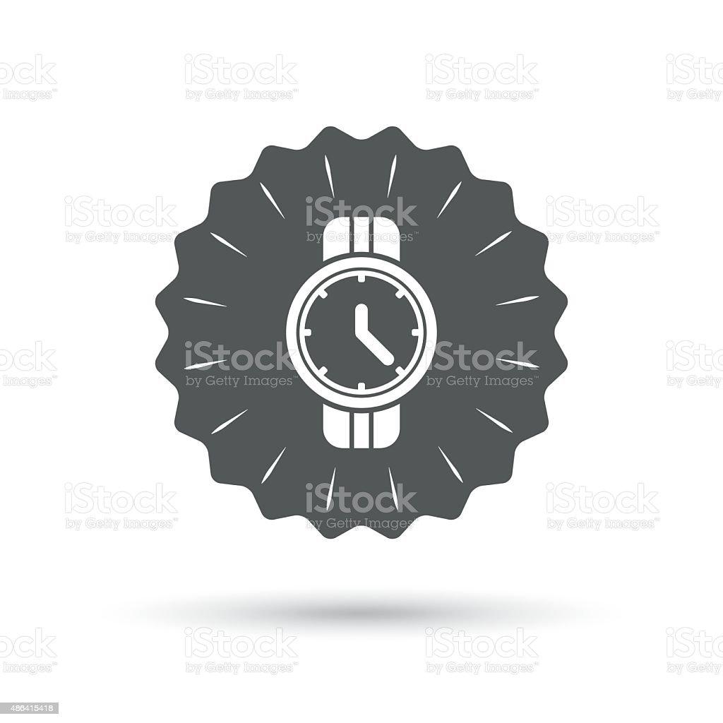 Wrist Watch Sign Icon Mechanical Clock Symbol Stock Vector Art
