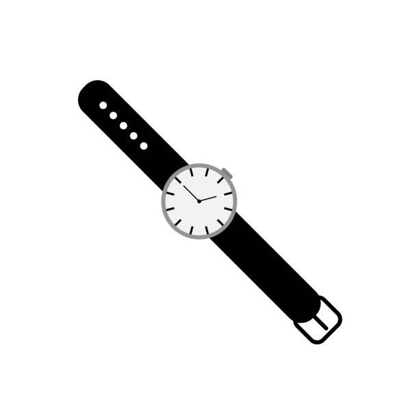 bildbanksillustrationer, clip art samt tecknat material och ikoner med vector-ikonen för armbandsur isolerad på vit bakgrund - armbandsur