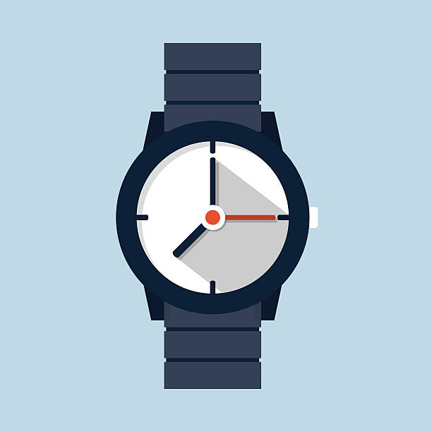 Wristwatch icon vector art illustration