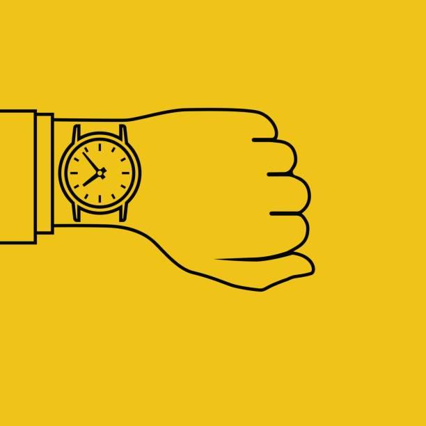 bildbanksillustrationer, clip art samt tecknat material och ikoner med armbandsur å, minimal - armbandsur