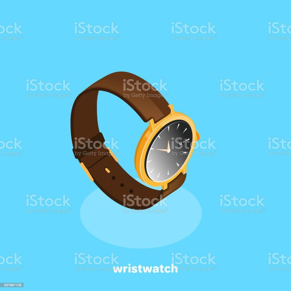 wristwatch vector art illustration