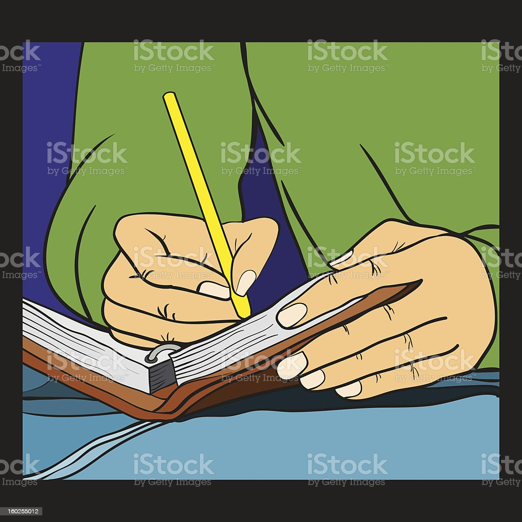 Write down royalty-free write down stock vector art & more images of activity