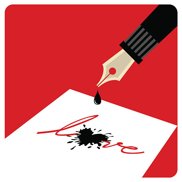 illustrazioni stock, clip art, cartoni animati e icone di tendenza di scrittura amore! - monte bianco