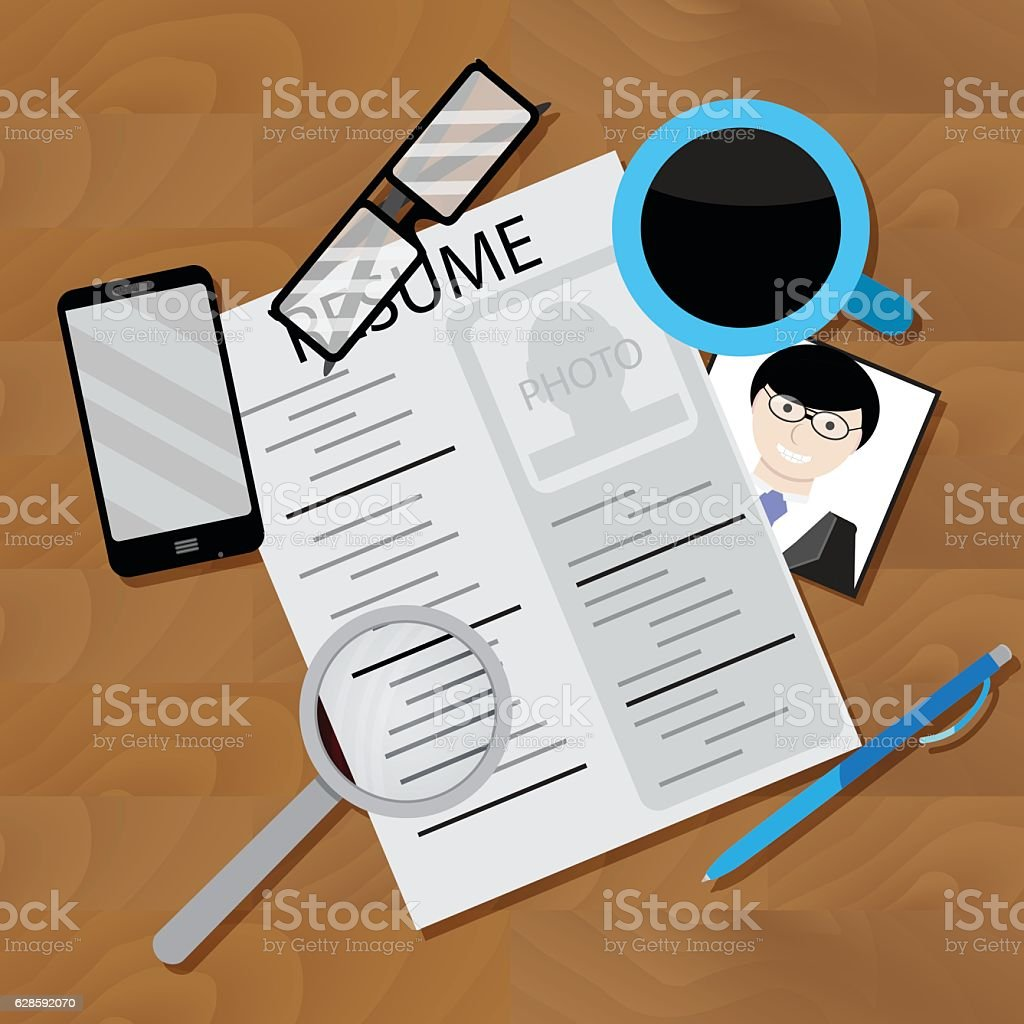 write resume and look for job のイラスト素材 628592070 istock