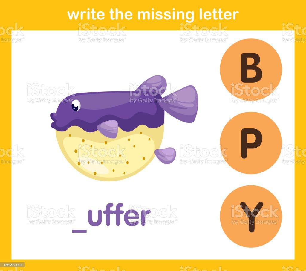 Schreiben Sie Die Fehlenden Brief Stock Vektor Art Und Mehr Bilder