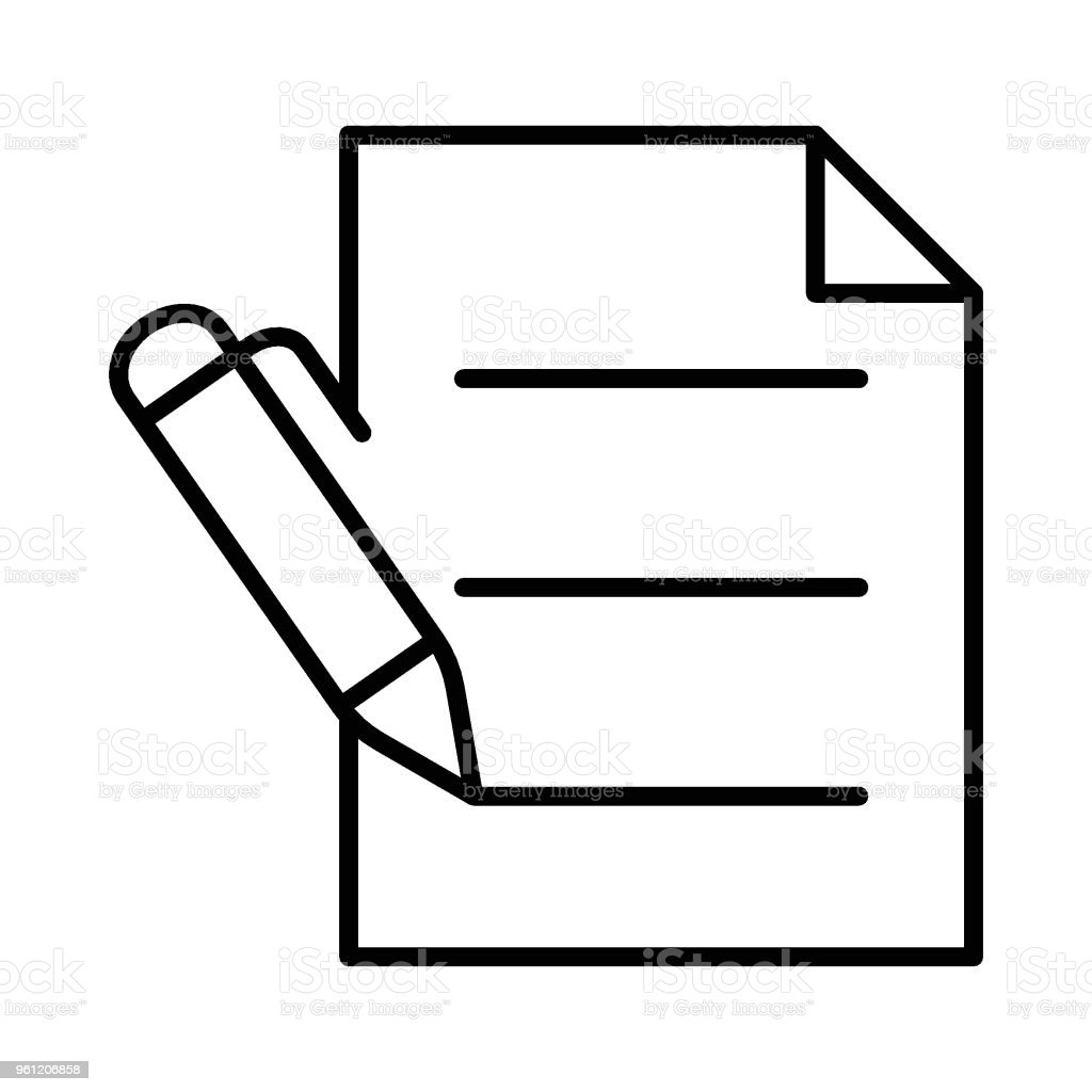 Escreva - ilustração de arte em vetor