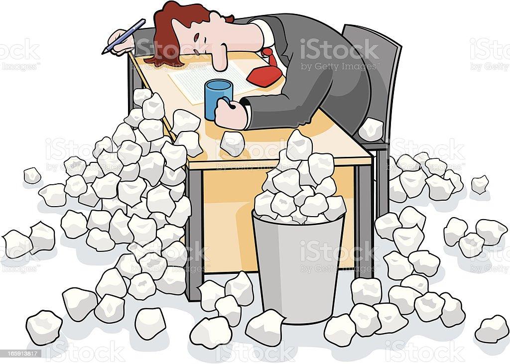 Writers Block vector art illustration