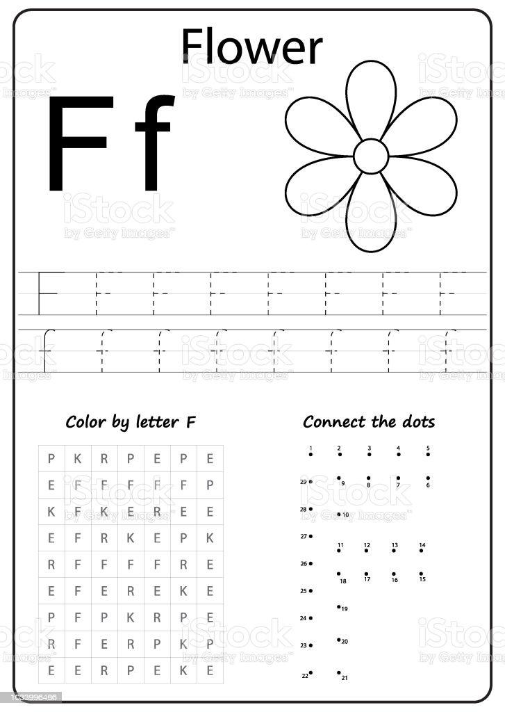Writing Az Alphabet Exercises Game For Kids Writing Letter F ...