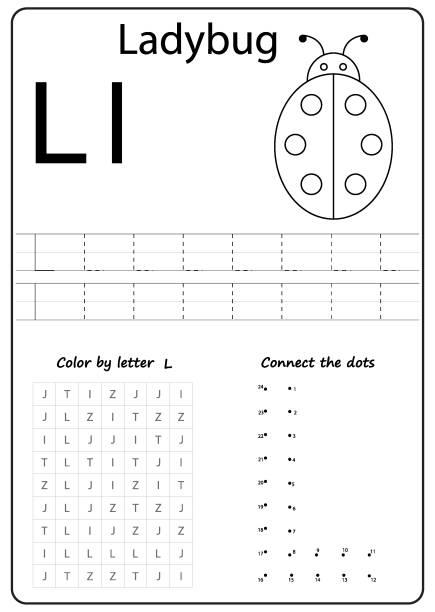Royalty Free Letter L Worksheet Clip Art, Vector Images ...