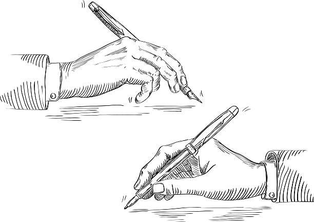 Écrit de main d'homme d'affaires - Illustration vectorielle