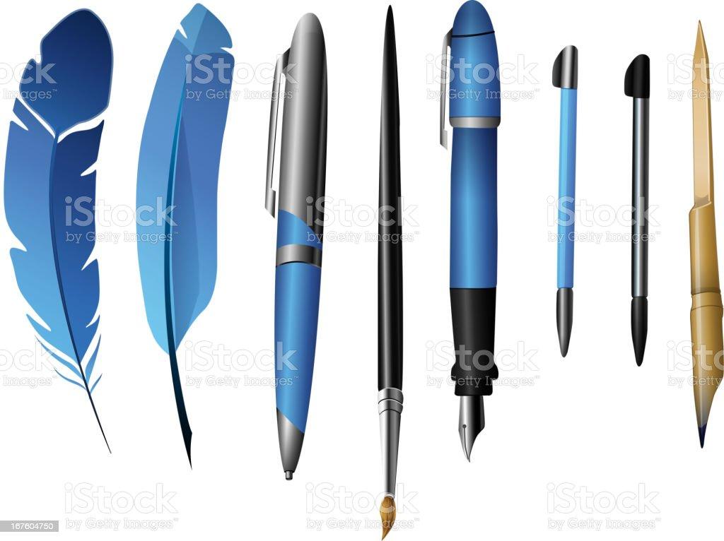 Writing Instrument royalty-free stock vector art