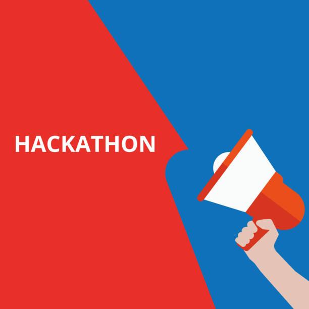 Writing note showing Hackathon. vector art illustration