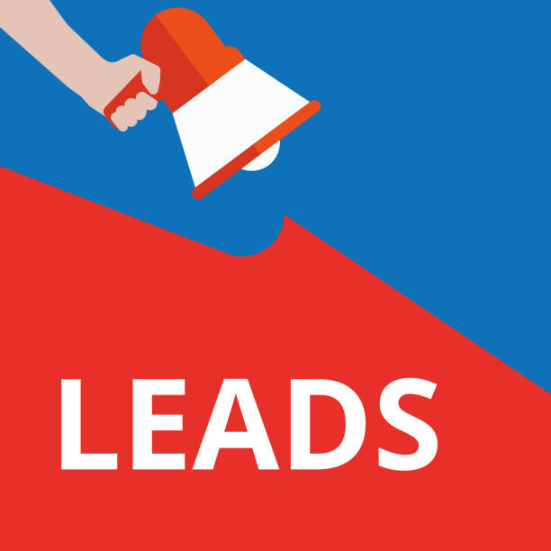 Writing note showing Leads. vector art illustration
