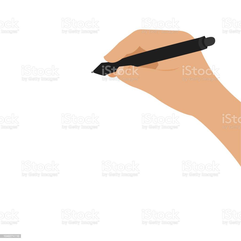 Writing on the blackboard. vector art illustration