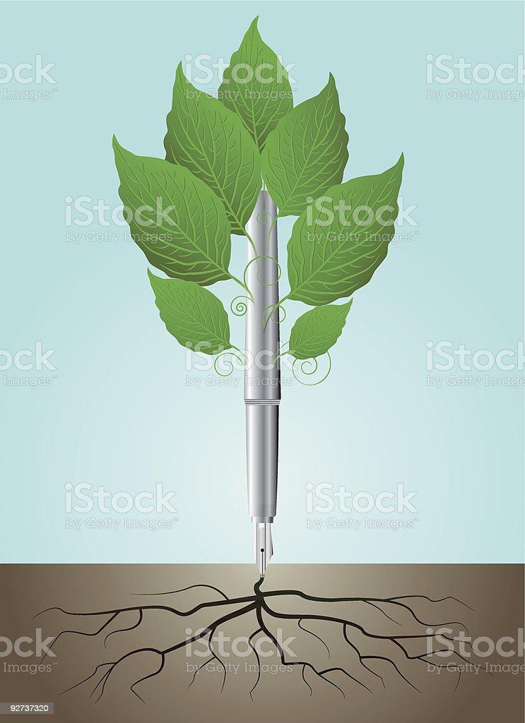 Schreiben-Wurzeln Lizenzfreies schreibenwurzeln stock vektor art und mehr bilder von ast - pflanzenbestandteil