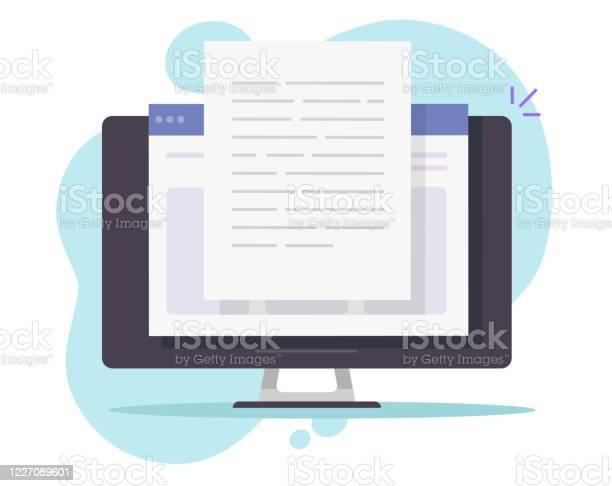 schreiben von textdokument inhalt onlinevektor auf dem desktopcomputer oder erstellen essay buch pc flache cartoonillustration kopieren webtextdateieditingkonzept lesen blogartikelidee stock vektor art und mehr bilder akte istock igel vektorgrafik für laser