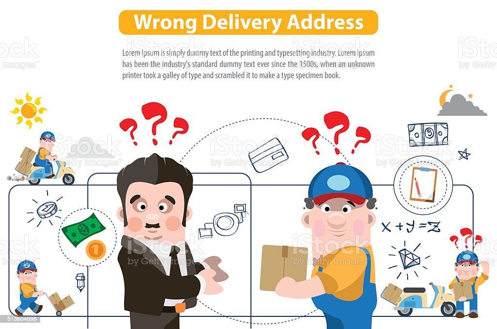 mauvaise adresse de livraison cliparts vectoriels et plus d 39 images de affaires 513804596 istock. Black Bedroom Furniture Sets. Home Design Ideas