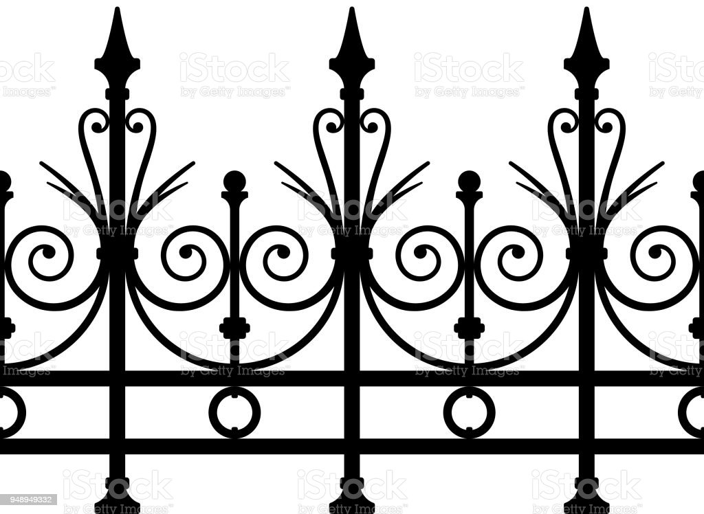Wrought Iron Fence Seamless Art Deco Stock Vector Art More Images