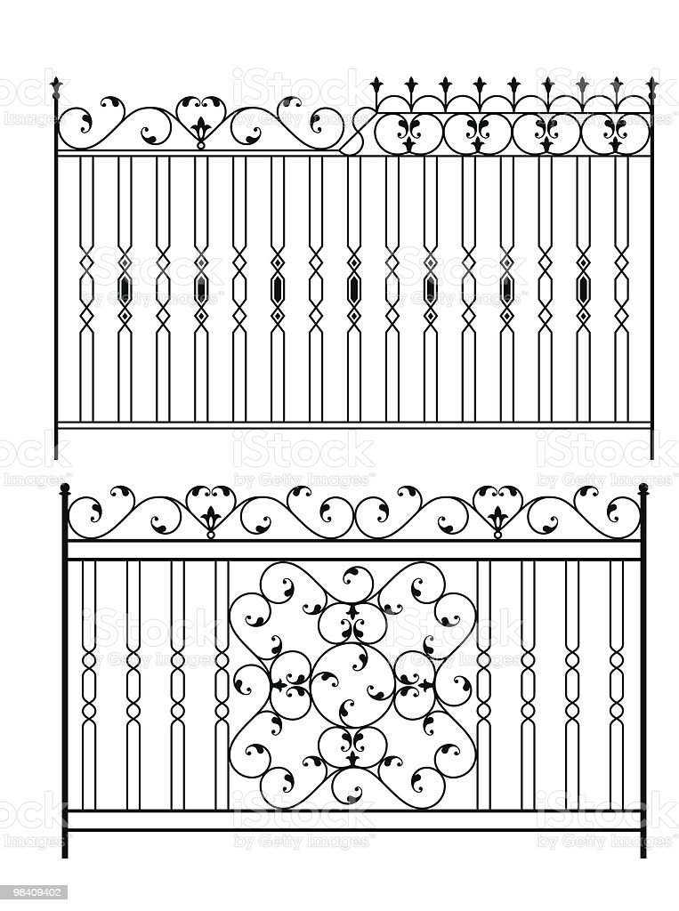 Wrought Iron Gate royalty-free wrought iron gate stock vector art & more images of antique