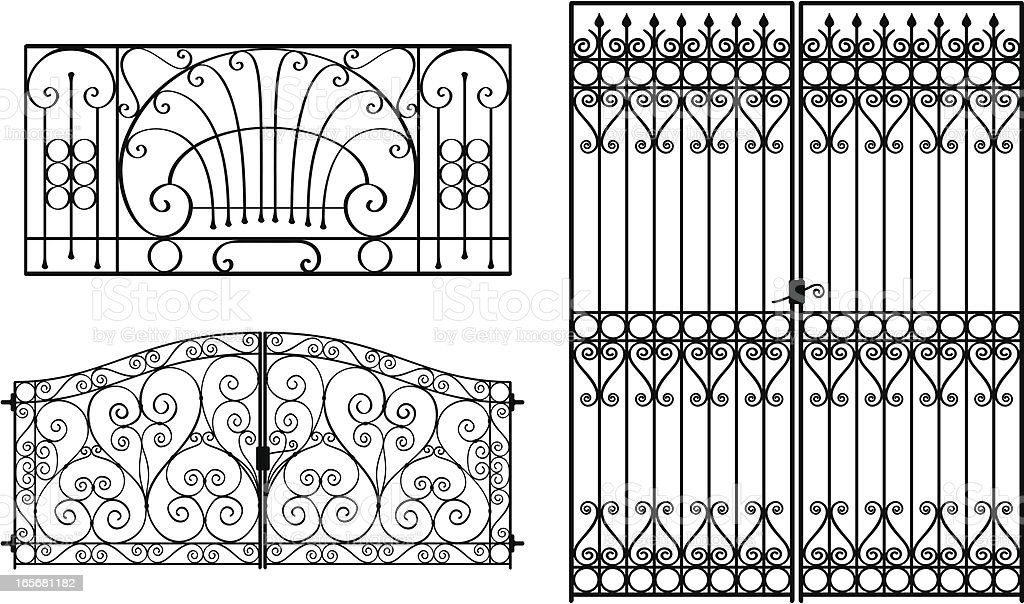 Wrought Iron Gates royalty-free wrought iron gates stock vector art & more images of antique