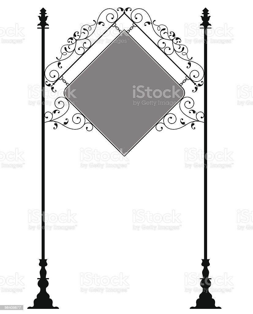Wrought Iron Signage royalty-free wrought iron signage stock vector art & more images of antique