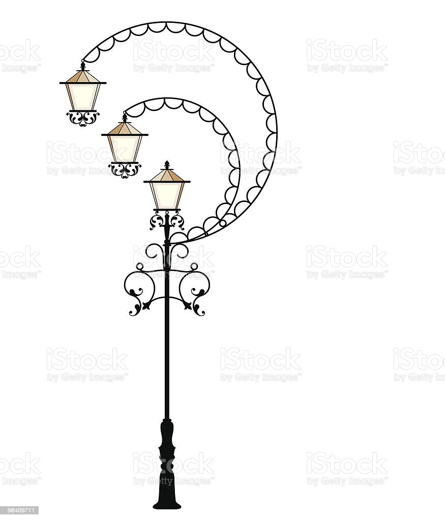 Wrought Iron street Lamp royalty-free wrought iron street lamp stock vector art & more images of antique