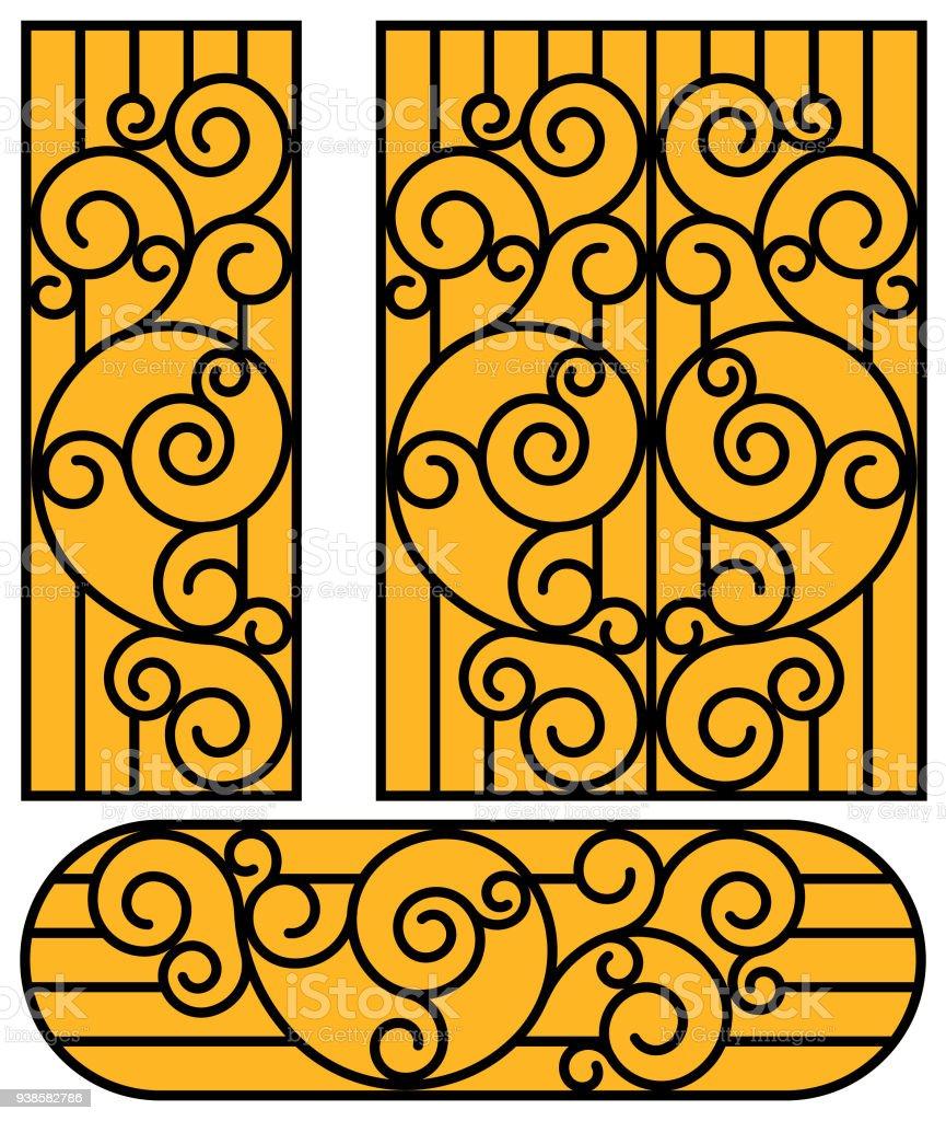 Wrought Iron Vector Door Art Deco Art Nouveau Stock Vector Art ...