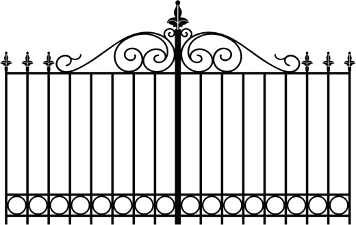 vectorized wrought iron gate or entranceway