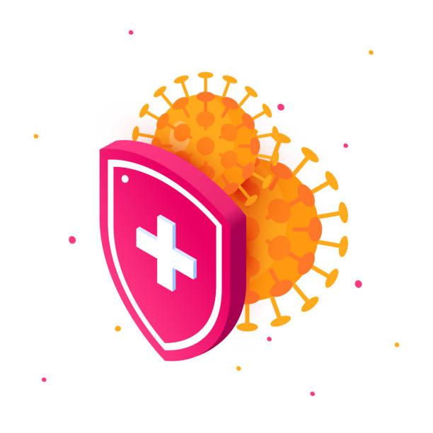 wuhan 2019-ncov icon im flachen stil, vektor - abwehr stock-grafiken, -clipart, -cartoons und -symbole