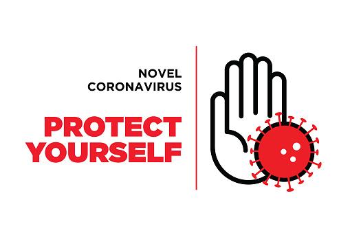 Wuhan coronavirus outbreak influenza as dangerous flu strain cases as a pandemic concept banner flat style illustration stock illustration clipart